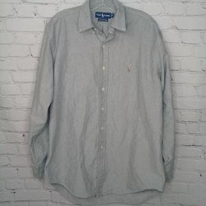 Ralph Lauren Grey Yarmouth Oxford Button Up